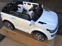 Kids Range Rover style 12v Electric Battery Ride on Car Jeep - Black or White