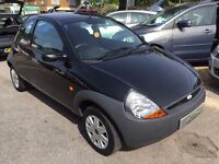 2008/08 FORD KA 1.3 STUDIO,3 DOOR,BLACK,LOW RUNNING COSTS,GREAT CONDITION,LOOKS AND DRIVES WELL