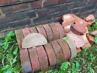25 half round/ half moon coping/edging bricks from Edwardian built wall
