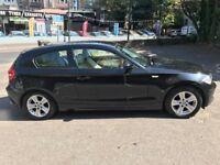 2007 black BMW 1 SERIES diesel 120k 1 year mot
