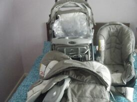 graco travel system pram and car seat