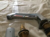HANS GROHE 4 hole rim mounted bath and shower mixer - superb condition