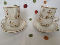Marks & Spencer, Harvest collection, 4 Cups and Saucers. A1 condition