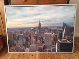 New York City urban photo framed wall art canvas from IKEA -perfect condition RRP£100