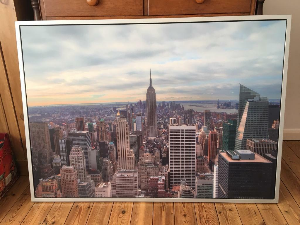 New York City Urban Photo Framed Wall Art Canvas From Ikea Perfect Condition Rrp