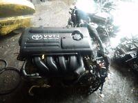 2002 TO 2007 TOYOTA COROLLA 1.6 VVTI PETROL ENGINE ENGINE CODE 3ZZ-FE