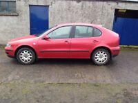 2000 Seat Leon 1.4 S# Full Mot#Cheap Car only £350#