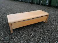 Light ash TV unit with storage. Perfect condition
