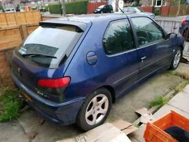Peugeot 306 gti6 (mileage) low mileage, project, spares or repair