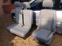 VW transporter t5 front seats drivers and double passenger