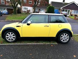 Yellow Mini Cooper