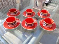 Whittard of Chelsea Coffee Cups and Saucers 6 un-wanted gift never used £25