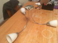 3 Light Chrome Effect Ceiling Light- 2 available @ £5 each