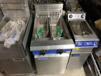COMMERCIAL CATERING KITCHEN ELECTRIC 3 PHASE 2 TANK FRYER FAST FOOD KITCHEN TAKE AWAY