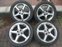 "Vauxhall Corsa/Tigra 17"" Penta SRi/SXI/CDTI Alloy Wheels & Tyres. 4 Stud."