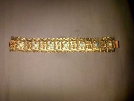Gold Tone bracelet 60s/70s italy post incd 2nd class