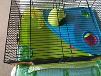 Colourful large hamster cage for sale. Buyer collect