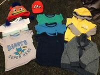 9-12 month boys bundle inc size 5 slippers & size 4 wellies