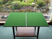 Solid teak card table