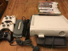 Xbox 360 with games and hard drive