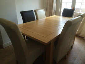Solid Oak Extending Dining Table for sale
