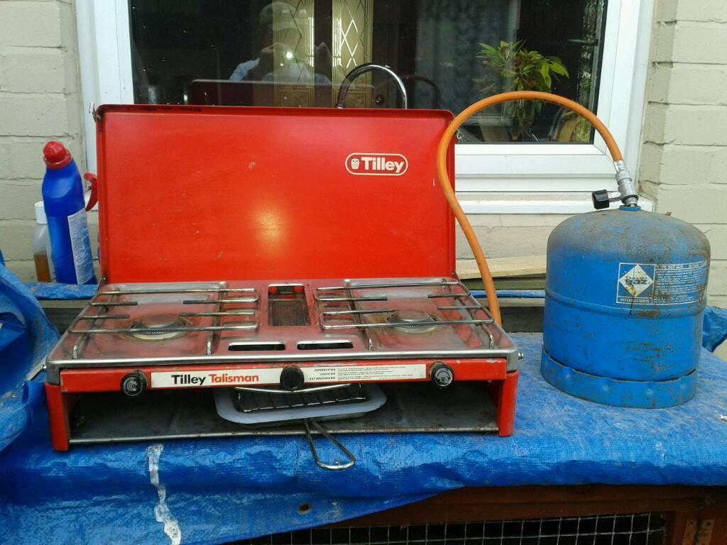 Vintage Tilley Camping Gas Cooker And Bottle In Wallsend