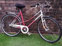 "Dutch Style Ladies DISKUS Town Bike, 21"" Frame, 3 Speed, GC! SERVICED & WORKING"