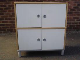 IKEA Oakwood Living Room Cabinets/Bed Wadrobe.Med 4 Door/2 Compartment x2/Large 2 Door/2 Shelves £30