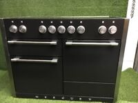 Stunning Mercury 1200 Range cooker Induction black and chrome Rangemaster