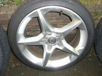 "4 x 18"" Genuine Vauxhall Penta Alloys With Tyres"