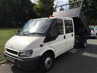 2005 FORD TRANSIT TIPPER.BRILLIANT DRIVE.CENTRAL LOCKING.2/2017 MOT.SERVICE.NO VAT