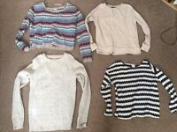 4 jumpers £2-£10 - £15 for all. (Jack Wills, H&M, new look, atmosphere)