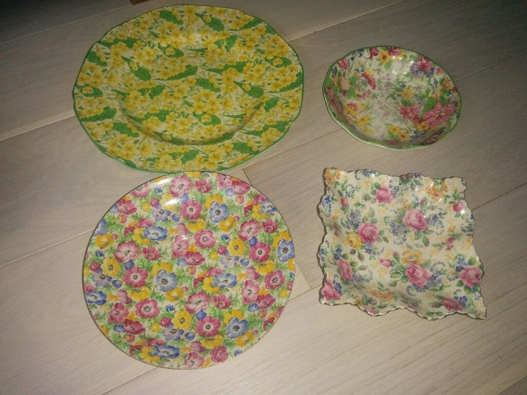 Chintz pottery mostly old original some new