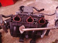 Corsa c 1 ltr 2001 inlet manifold , throttle body .