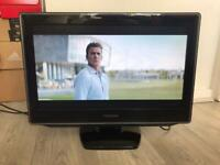 """TOSHIBA 22"""" HD TV / Monitor - HDMI, Freeview, Remote - Delivery available"""