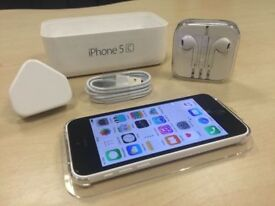 Boxed White Apple iPhone 5c 16GB Factory Unlocked Mobile Phone + Warranty