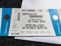2 x Standing Stone Roses Glasgow 24/6/17 £100 each