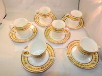 Vintage 6 'elizabethan garland ' teacups and saucers (12pss)