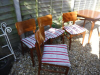 Mid Century Dining table & 4 Butterfly back chairs