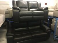 New/Ex Display LazyBoy Finchley Leather Electric Recliner 3 Seater + 2 Seater Sofas
