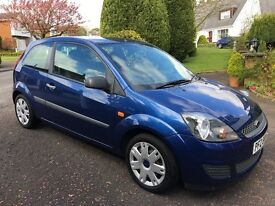 Ford Fiesta Style Climate, metallic Blue. Car in superb condition and MOT'd until November '17