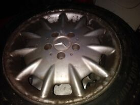 1x 16 mercedes alloy with brand new tyre