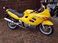 Suzuki GSX600F x 1999 T reg Yellow very clean reliable bike. With MOT