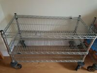 Stainless steel trolly with wheels