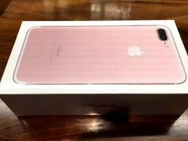 iPhone 7 plus unlocked brand new 256gb rose