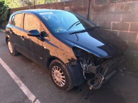 Vauxhall Corsa breaking fore part