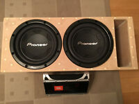 Dual 12'' Pioneer subwoofers in custom ported enclosure with jbl 601.1 amp *NOT Orion, RE, JL audio