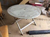 Rustic garden table needs TLC