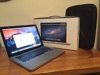 "13"" MacBook Pro 16GB Ram 500gb HD Sierra OSX with Original Box and Civilian Laptop Case"