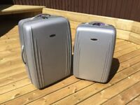 Pair of 2 silver revelation suitcases